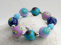 Im Ozean handgefertigtes Armband aus Polymer von polymerdesign