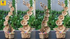 DIY Flower and Flower vase Decoration Idea with Jute Rope | Home Decor J...