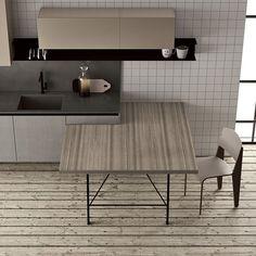 Separada con cristal cocinas abiertas integradas en el sal n pinterest ranges and kitchens - Doimo cucine spa ...