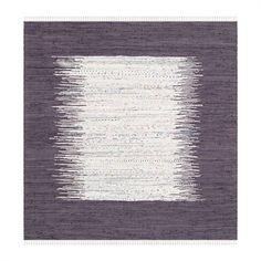 Safavieh MTK711M Montauk Flat Weave Ivory and Purple Area Rug