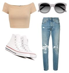 """untitled #87"" by maddi-medsker on Polyvore featuring Levi's, Alice + Olivia, Converse and Ace"