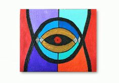 Mix Media Painting Eye Painting Canvas Painting Wall by Art4mHeart