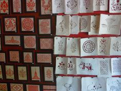 Shopping in #Laos - rice paper cards make for beautiful Christmas Cards.