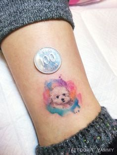 Pin by ellie m on tattoos i'll never get мини татуировки, милые тату, татуировки Mini Tattoos, Small Dog Tattoos, Trendy Tattoos, Foot Tattoos, Cute Tattoos, Beautiful Tattoos, Body Art Tattoos, Tatoos, Puppy Tattoo