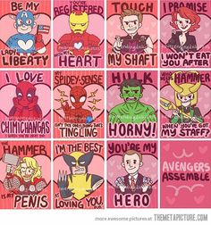 Avenger's Valentines…no, just no