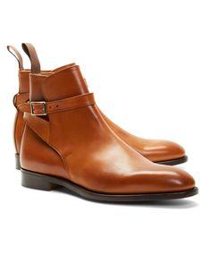 e8d53d27c6eb2 Leather Ankle Strap Buckle Boots