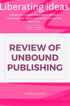 Review of Unbound Publishing | lisaferland.com It Works Reviews, Like You, Crowd, Bring It On, Personal Care, Writing, Reading, Books, Life