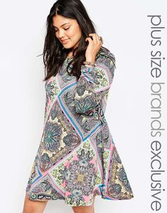 Alice & You Scarf Print Swing Dress