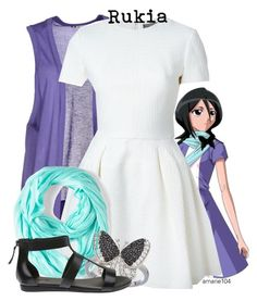 """""""Rukia (Bleach)"""" by amarie104 ❤ liked on Polyvore"""