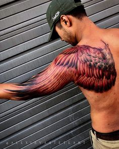 Best Cross Tattoos and Designs for Men and Women - Millions Grace - Top 100 Gorgeous Tattoo Ideas And Designs For Men - Phoenix Tattoo Arm, Wing Tattoo Arm, Tattoo Arm Mann, Back Of Arm Tattoo, Arm Tattoos For Guys, Tattoos For Women, Men Arm Tattoos, Wing Tattoos On Back, Chest Tattoo