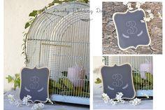 Grande étiquette double numéro de table - papier kraft + noir - Mariage cérémonie : Autres papeterie par de-petits-riens