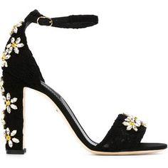 Dolce & Gabbana Daisy Embellished Sandals