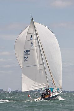 J/80 'J Caramba'  The J/80 yacht 'J Caramba' racing in the Solent during Cowes Week.  #sailboats #boats #sailing
