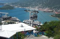 The St.Thomas Skyride to Paradise Point, a modern cable car similar to a ski lift, is your ride to the best sightseeing in the U.S. Virgin Islands. The trip is just 7 minutes one way and takes you up to 700 Feet above sea level. Enjoy panoramic views of cruise ships, the harbor with its sailboats and seaplanes, downtown Charlotte Amalie, and the neighboring islands. -