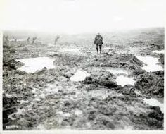 """WWI Soldiers """"Mud and barbed wire through which the Canadians advanced during the Battle of Passchendaele,"""" November William Rider-Rider / Canada. of National Defence / Library and Archives Canada / Canadian Soldiers, Canadian Army, Canadian History, Ww1 Soldiers, World War One, First World, Battle Of Passchendaele, Battle Of Ypres, Flanders Field"""