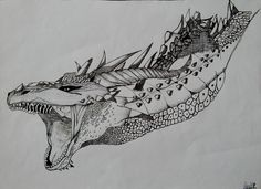 dragon drawing. this is my favorite artwork :) made it with pen . #dragon #drawing