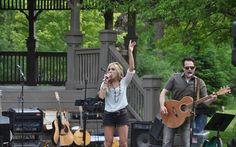 Alyssa Simmons, local talent warm up for Blackthorn, rocked Depot Park during week 2 of Concerts in the Park 2015