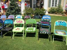 AWESOME bid day gift! Chair becomes your seat at Chapter Meetings!