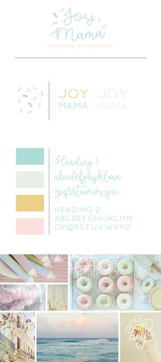 Colorful Branding. Fun. Sprinkles. Cupcakes. Pastel. Pastels. Brand Board. Mood Board,m. Lifestyle Blog. By Alisabeth Designs.
