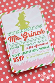 Christmas, Grinch, Holidays Christmas/Holiday Party Ideas | Photo 20 of 29 | Catch My Party GRINCH PARTY!!!