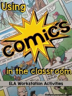Kids love reading comics!  Why not foster their love of reading and teach ELA skills at the same time!  This product gives comic reading a purpose.  As students read through the comics; they do grammar, phonics, fluency, vocabulary, comprehension, and writing tasks.