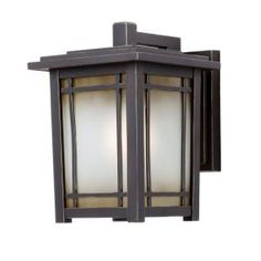 Home Decorators Collection Port Oxford 1 Light Oil Rubbed Chestnut Outdoor  Wall Mount Lantern