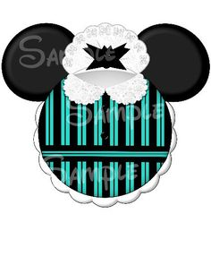 Haunted Manson Maid Castmember inspired Mickey Head printable personalized digital file on Etsy, $3.00