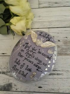 Infant loss remembrance stone, infant loss memorial keepsake for inside. Add your personal name.  Click here for more designs.