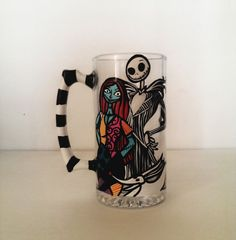 Jack and Sally Beer mug  Nightmare before christmas