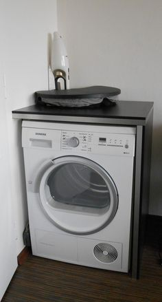 Use washer/dryer as extra counter space...