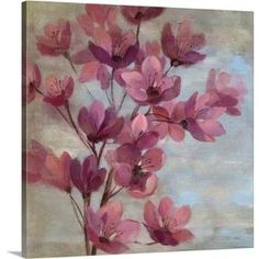 "'April Blooms II' by Silvia Vassileva Painting Print on Canvas Size: 24"" H x 24"" W by Wayfair"