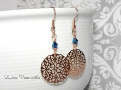 Chandeliers - Ohrringe in Rosegold - ein Designerstück von Luisa-Ventocilla bei DaWanda