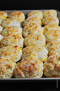 Cheddar Biscuits- Quick Bread: The biscuit type includes using the biscuit method. You have to cut-in shortening. Since you are cutting in shortening it is and using the biscuuit method, it is a quick bread.