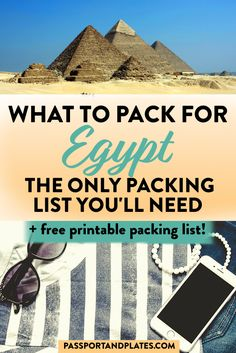What to Pack for Egypt: The Ultimate Egypt Packing List - Planning a trip to Egypt? This Egypt packing list includes everything you'll need to pack no matt - Travel Advice, Travel Guides, Travel Tips, Travel Destinations, Egypt Travel, Africa Travel, Packing List For Travel, Packing Lists, Packing Hacks