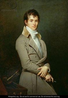1801,  by Robert-Jacques-Francois-Faust Lefèvre. Portrait of the artist Paulin Guérin. 1783-1855