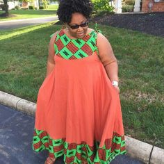 Check out this Fashionable modern african fashion Latest African Fashion Dresses, African Dresses For Women, African Print Dresses, African Print Fashion, Africa Fashion, African Attire, African Outfits, Nigerian Dress, Afro