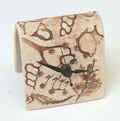 Desk Clock brown ocean by botanicraft on Etsy, $17.00