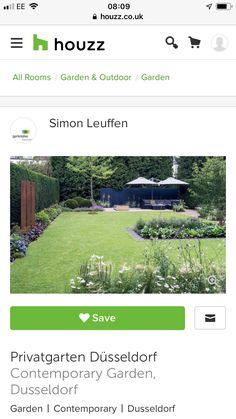 Contemporary Garden, Outdoor Gardens, House, Private Garden, Home, Homes, Houses