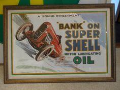 """Bank"" on Super Shell Motor Lubricating Oil"