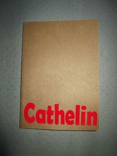 Gietjes Corner - Flocken op karton naar het voorbeeld van Hilde@Home