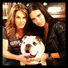 VS Angel Adriana Lima with lovely Bulldog #dogs #englishbulldog #adrianalima #VS #celebrities #pets #animals
