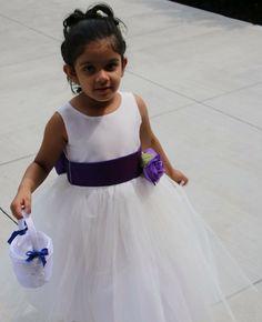 Pink Princess customers love choosing the Blossom PolySilk & Tulle flower girl dress for their weddings!