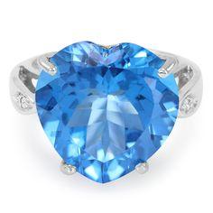 #topaze #bleue #bague #bijoux #bijouterie Bague+en+argent+et+Topaze+bleu+Suisse+-+une+pièce+fantastique+à+la+qualité+irréprochable+et+au+design+exceptionnel.+En+exclusivité+chez+Juwelo.