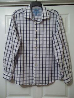 EGARA - Slim Fit - No Iron -  Button Front Shirt - Flip Cuffs  Size XXL  #EGARA
