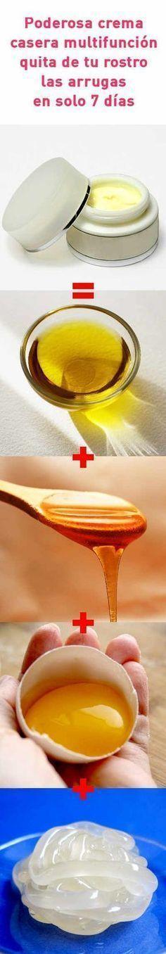 Poderosa crema casera multifunción quita de tu rostro las arrugas en solo 7 días #crema #casera #cosmetica #antiarrugas #piel #madura #rostro #cutis #DIY