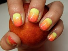 Tequila Sunrise Nail