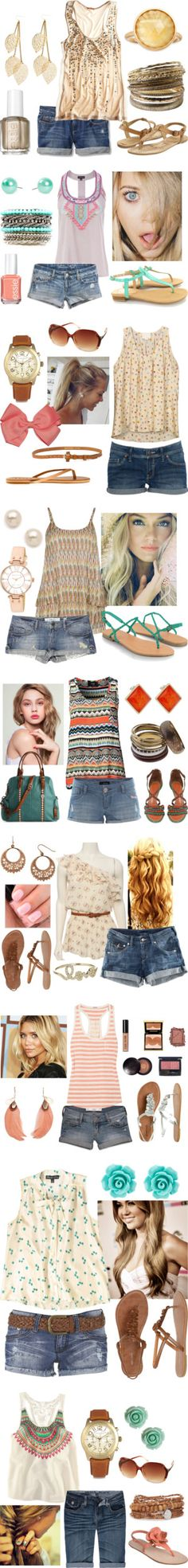 """""""Sweet Summertime"""" by qtpiekelso on Polyvore. Hopefully we get enough of a summer this year that I can use some of these!"""