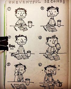 An Uneventful Comic #sketchbook #sketch #carlosaraujoillustrator #sketching #comic #draw #sequentialart #instasketch #drawing #artistsofinstagram #dibujo #watchout