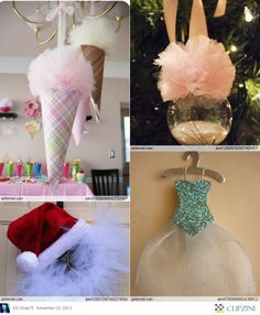 Tulle Christmas Decorations