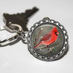 Cardinal Bottlecap Keychain * Read more reviews of the product by visiting the link on the image. (Amazon affiliate link)